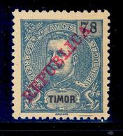 ! ! Timor - 1911 D. Carlos 78 A - Af. 125 - NGAI - Timor