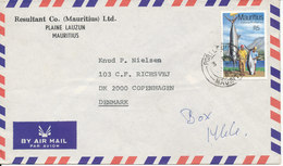 Mauritius Air Mail Cover Sent To Denmark 10-10-1983 Single Franked - Mauritius (1968-...)