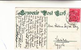 Jerusalem To Cairo Egitto.  Ufficio Postale Austriaco A Gerusalemme Post Cards 1909 - Oriente Austriaco