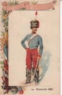Chromo Chocolat Du Prado Marseille .. Hussard 1860 .. Militaire - Chocolat