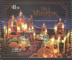 J) 2018 MEXICO, DAY OF THE DEAD, MEXICAN TRADITIONS, MNH - Mexico