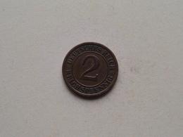 1925 A - 2 Reichspfennig ( KM 38 ) Uncleaned ! - 2 Rentenpfennig & 2 Reichspfennig