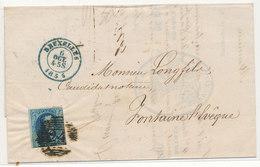 1855 BRIEF VAN BRUXELLES NAAR  FONTAINE L'EVEQUE ZIE SCAN(S) - 1851-1857 Medallions (6/8)