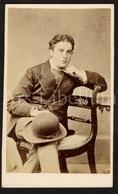 Photo-carte De Visite / CDV / Jeune Homme / Young Man / Photographer J. Webber / Wells / England / 2 Scans / Bowler Hat - Photographs
