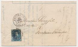 1854 BRIEF VAN BRUXELLES NAAR  FONTAINE L'EVEQUE ZIE SCAN(S) - 1851-1857 Medallions (6/8)