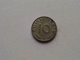 1939 J - 10 Reichspfennig ( KM 92 ) Uncleaned ! - 10 Reichspfennig