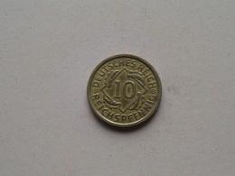 1935 D - 10 Reichspfennig ( KM 40 ) Uncleaned ! - 10 Reichspfennig