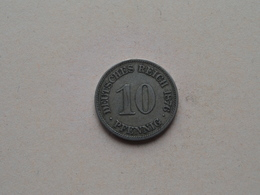1876 E - 10 Pfennig ( KM 4 ) Uncleaned ! - [ 2] 1871-1918 : German Empire