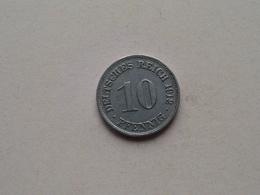 1912 D - 10 Pfennig ( KM 12 ) Uncleaned ! - [ 2] 1871-1918: Deutsches Kaiserreich