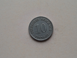 1912 D - 10 Pfennig ( KM 12 ) Uncleaned ! - [ 2] 1871-1918 : German Empire