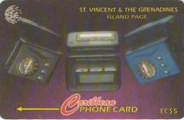 ST. VINCENT & THE GRENADINES(GPT) - Island Page, CN : 221CSVB, Tirage 10000, Used - San Vicente Y Las Granadinas