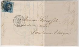 1857 BRIEF VAN BRUXELLES NAAR  FONTAINE L'EVEQUE ZIE SCAN(S) - 1851-1857 Medallions (6/8)