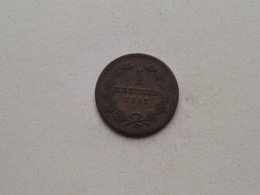 1852 BADEN - 1 Kreuzer ( KM 218.2 ) Uncleaned ! - Petites Monnaies & Autres Subdivisions