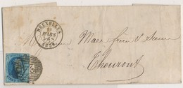 1859 BRIEF VAN BRUXELLES NAAR  THORHOUT ZIE SCAN(S) - 1849-1865 Medallions (Other)