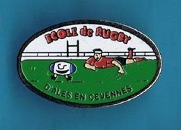 PIN'S //  ** ÉCOLE DE RUGBY / D'ALES En CÉVENNES ** - Rugby