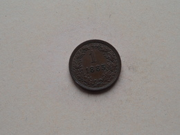 1885 - 1 Kreuzer ( KM 2187 ) Uncleaned ! - Austria