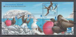 Ascension 2001,5V In Block,birds,vogels,vögel,oiseaux,pajaros,uccelli,aves,MNH/Postfris(L3381) - Vogels