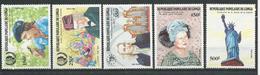 CONGO Scott 735-739 Yvert 756-760 (5) ** Cote 15,10 $ 1985 - Congo - Brazzaville