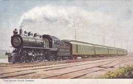 THE EMPIRE STATE EXPRESS. FAMOUS AMERICAN EXPRESSES. RAPHAEL TUCK ET FILS. CIRCA 1910. FFCC-BLEUP - Treinen