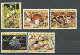 CONGO Scott 742-746 Yvert 764-768 (5) ** Cote 16,75 $ 1985 - Congo - Brazzaville