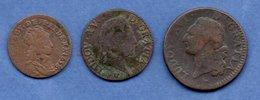 Royales  -  Lot De 3 Monnaies - 987-1789 Monedas De La Realeza