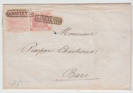 NAPOLI 20/05/1858 USED LETTER SASSONE 6 (2) NAPOLI TO BARI - Naples
