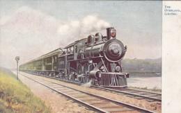 THE OVERLAND, LIMITED. FAMOUS AMERICAN EXPRESSES. RAPHAEL TUCK ET FILS. CIRCA 1910. FFCC-BLEUP - Treinen