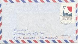 Malta Cover Valetta 4-5-2002 Sent To Denmark Single Franked - Malta