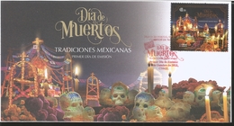 J) 2018 MEXICO, DAY OF THE DEAD, MEXICAN TRADITIONS, FDC - Mexico