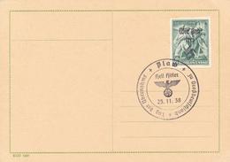 PLAW - 25.11.38 , CSSR Mit Aufdruck  Wir Sind Frei - Briefe U. Dokumente