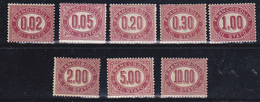 Vittorio Emanuele II > Servizi  1875 Sassone 1-8 Serie Cpl 8 Val. MNH** - 1861-78 Vittorio Emanuele II