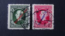 Slovakia - 1939 - Mi:SK 24+25A - Yt:SK 30-1 O - Look Scan - Gebraucht