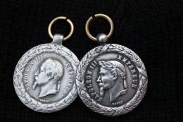 Médailles Napoléon III Campagnes De Chine Et D'Italie (copies) - France