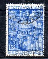 T1270 - REPUBBLICA  1950 , Sassone 55 Lire N. 621 Usato . Anno Santo - 6. 1946-.. Repubblica
