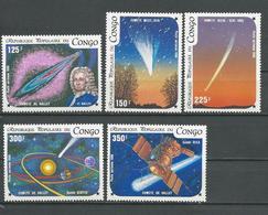 CONGO Scott C349-C353 Yvert PA343-PA347 (5) ** Cote 9,00 $ 1986 - Congo - Brazzaville