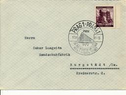 PRAG  - 1941 , Brief Nach Burgstädt - Briefe U. Dokumente
