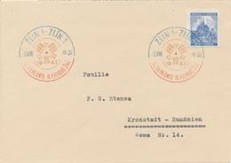 ZLIN  - 1941 , Brief Nach Kronstadt / Rumänien - Briefe U. Dokumente