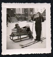 B9920 - TOP Foto Schlitten Wintersport Schi Schier Mode - Vintage - Fotografie