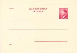 BÖHMEN Und MÄHREN - 1942 , Kartenbrief / Zalepka - Briefe U. Dokumente