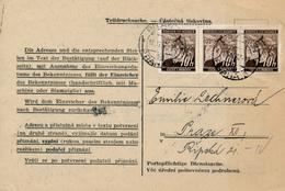PRAG  - 1942 , Einkommensteuer - Teildrucksache - Briefe U. Dokumente