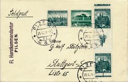 PLZEN  - 31.III.1939 , Brief Nach Stuttgart - Mischfrankatur  CSSR Und Deutsches Reich - Briefe U. Dokumente