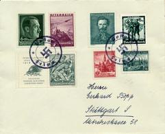 LEIPA -  Brief Nach Stuttgart - Mischfrankatur  CSSR ,  Deutsches Reich Und Österreich - Briefe U. Dokumente