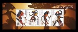 Cocos (Keeling) Islands 2018 Mih. 531/34 (Bl.23) Shadow Puppets MNH ** - Cocoseilanden