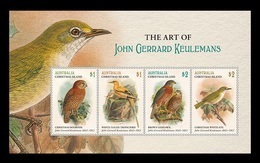 Christmas Island 2018 Mih. 892/95 (Bl.53) Paintings And Fauna. Birds On The Lithographs Of John Gerrard Keulemans MNH ** - Christmas Island