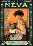 Product Postcard Néva Machine á Coudre Albert Durin Jaligny 1910 - Reproduction - Publicité