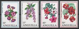 Anguilla 1970 Mi# 87-90* FLOWERS - Anguilla (1968-...)