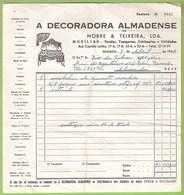 Almada - Factura E Recibo De A Decoradora Almadense - Portugal