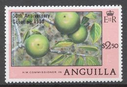 Anguilla 1980 Mi# 386** FRUITS, OVPTD. 50th ANNIVERSARY / SCOUTING 1980 - Anguilla (1968-...)