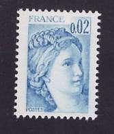 France Variété N° 1963 Neuf ** Timbre De 1977 1978 Bleu Impression Dépouillée - Abarten Und Kuriositäten