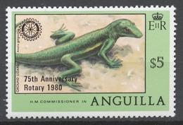 Anguilla 1980 Mi# 388** LIZARD, ROTARY INTERNATIONAL, 75th ANNIV. - Anguilla (1968-...)
